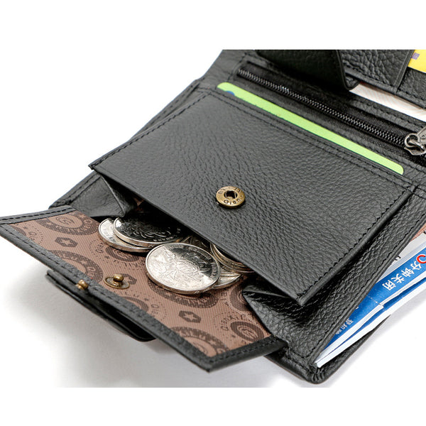 Men's Leather Wallet - Secure Wallet & Phone