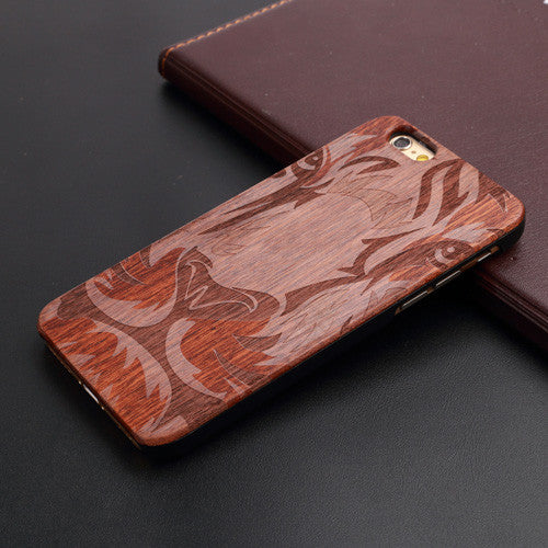 Skull Bamboo Shockproof Phone Case For iPhone 5 5S 6 6S 6Plus 6S Plus 7 7Plus - Secure Wallet & Phone