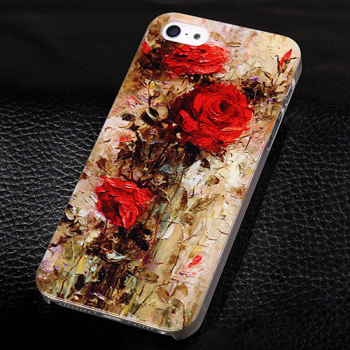 Abstractionism Art Phone Cases For iPhone 5/5s Floral Plant Vincent Van Gogh Oil Painting - Secure Wallet & Phone