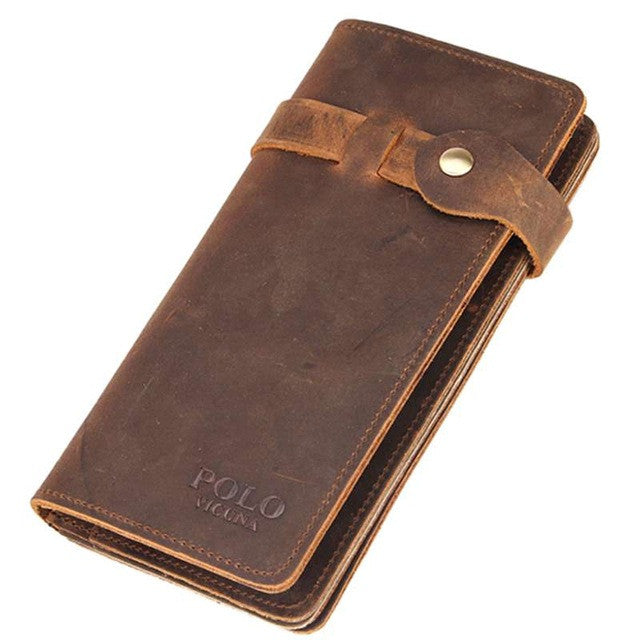Vintage Leather Wallet - Secure Wallet & Phone