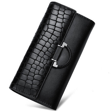 Women's Vintage Leather Wallet - Secure Wallet & Phone