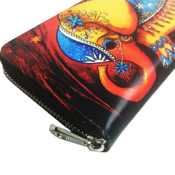 Women's Leather Cartoon Elephant Wallet - Secure Wallet & Phone
