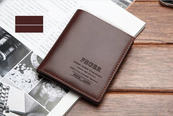 FEGER Men's Leather Wallet - Secure Wallet & Phone