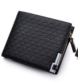 Leather Zipper Card Holder Wallet - Secure Wallet & Phone