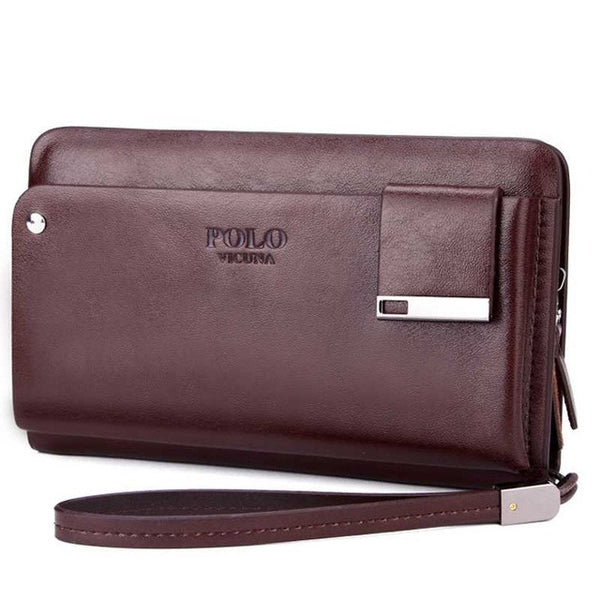 VICUNA POLO Leather Men's Wallet with Rotatable Card Holder - Secure Wallet & Phone