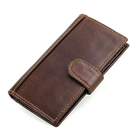 Leather Wallet Card Holder with RFID Signal Blocking Technology - Secure Wallet & Phone