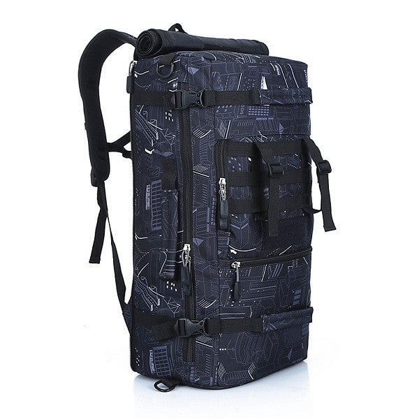 50L Military Style Tactical Camping Mountaineering Pack - Secure Wallet & Phone