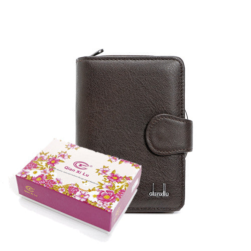 Women's Leather Zipper Coin Purse Wallet - Secure Wallet & Phone