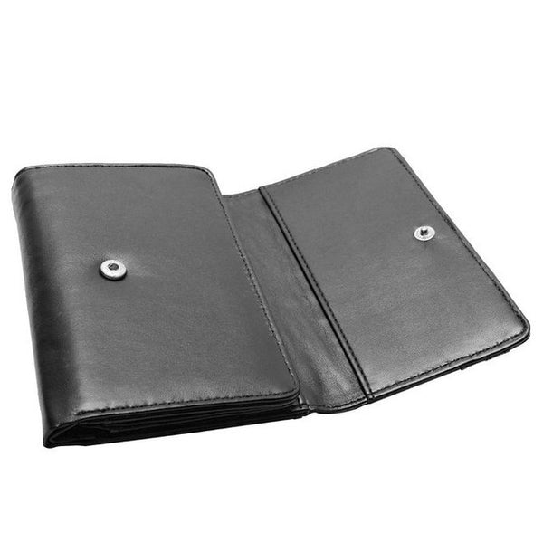 Men 4-fold Faux Leather Wallet with RFID blocking Technology - Secure Wallet & Phone