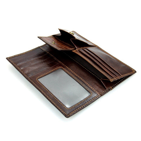 Leather Coin Pocket & Credit Card Holder Wallet with RFID Blocking Technology - Secure Wallet & Phone