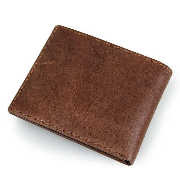 New Men's Leather Wallet with RFID Blocking Technology - Secure Wallet & Phone