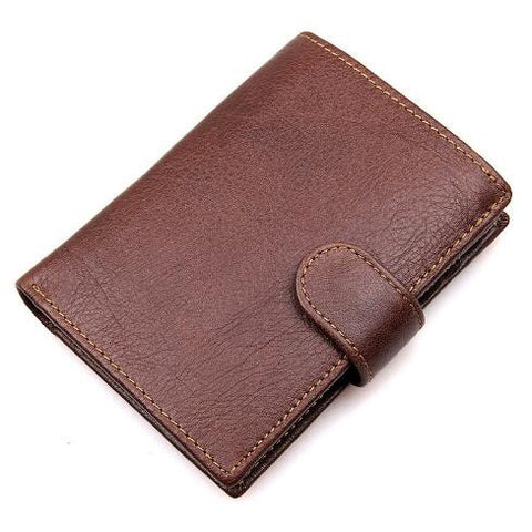Men's Leather Wallet Card Holder Coin Bag with RFID Signal Blocking Technology - Secure Wallet & Phone