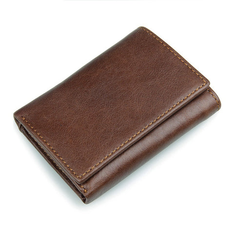 Leather Tri-fold Wallet with RFID Blocking Technology - Secure Wallet & Phone