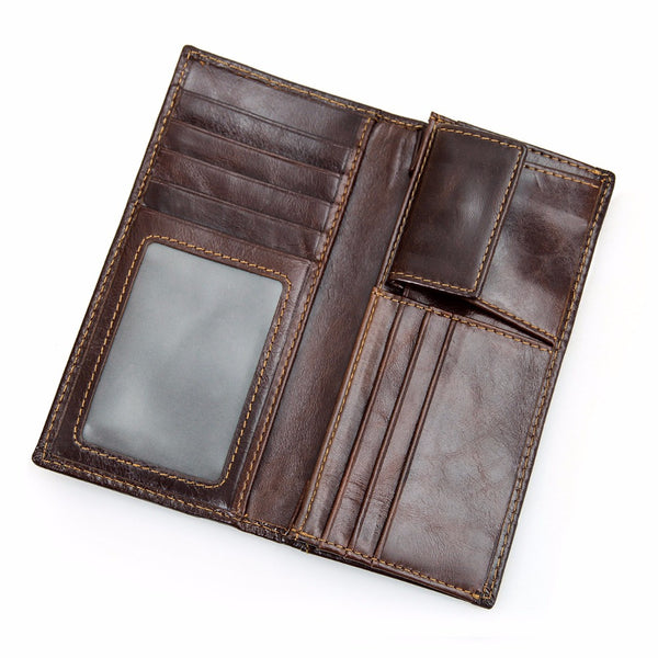 Men's Leather Protector Wallet with RFID Signal Blocking Technology - Secure Wallet & Phone