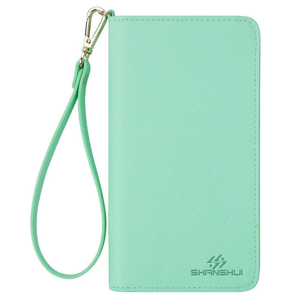 Women's Leather Wallet Mobile Phone Pouch Strap Handbag with RFID Blocking Technology (Two Sizes) - Secure Wallet & Phone