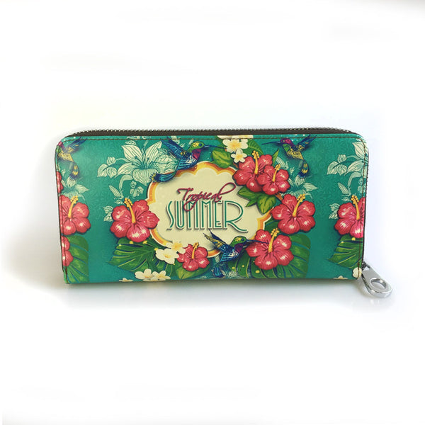 Women's Leather Summer Wallet with Zipper - Secure Wallet & Phone