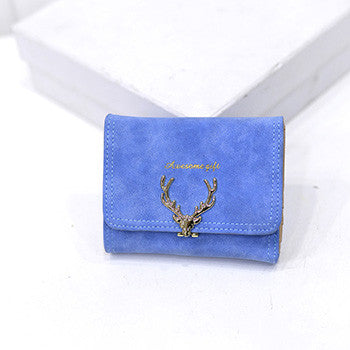 Women's Christmas Deer Style Wallet with Zipper - Secure Wallet & Phone
