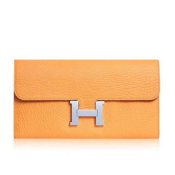Woman Leather H Buckle Style Wallet - Secure Wallet & Phone
