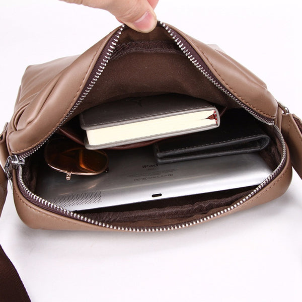VICUNA POLO Leather Business Handbag - Secure Wallet & Phone