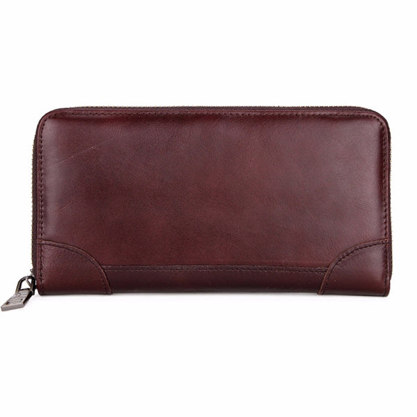 VICUNA POLO Men's Long Leather Wallet - Secure Wallet & Phone