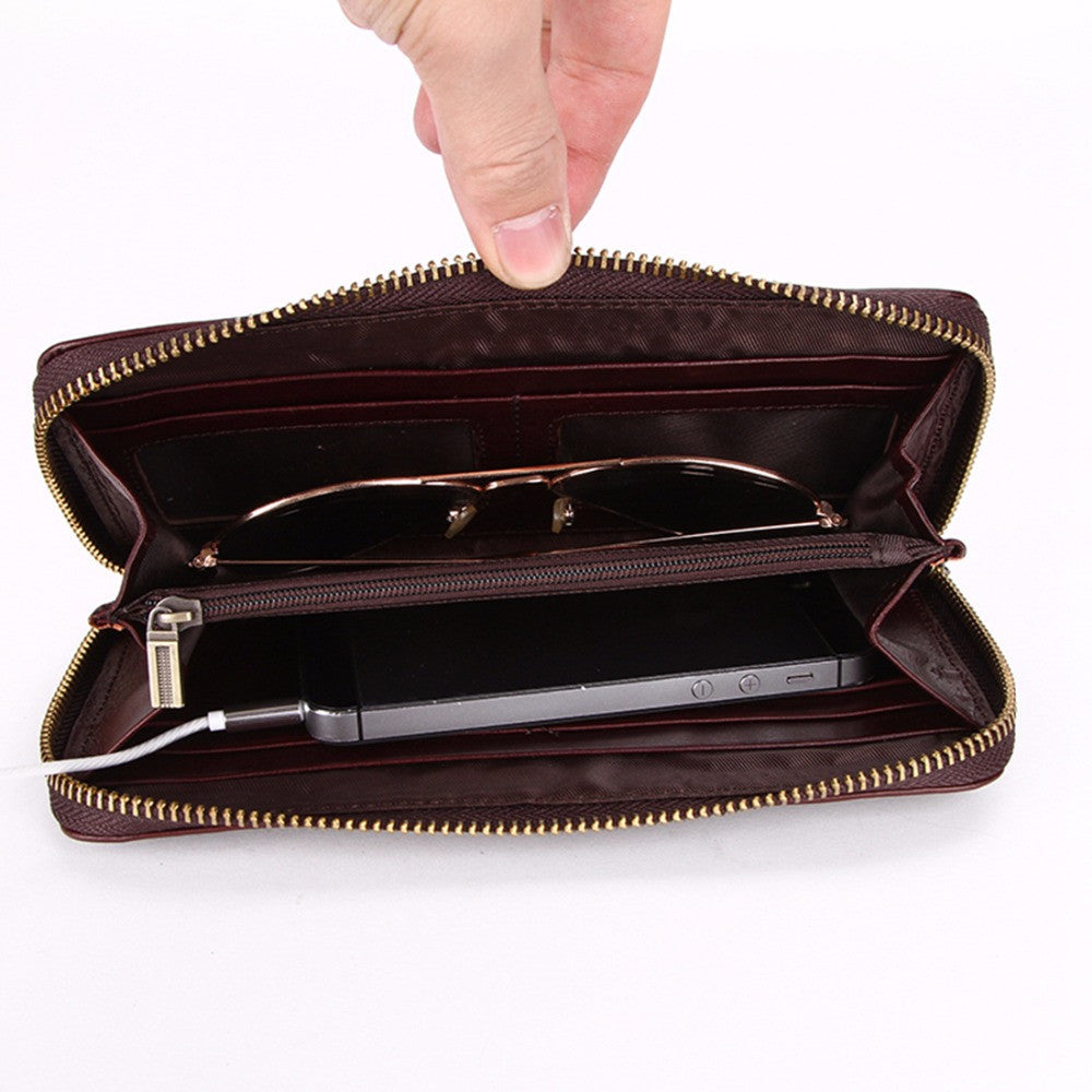 596fb9e51dd0f ... VICUNA POLO Men s Long Leather Wallet - Secure Wallet   Phone ...