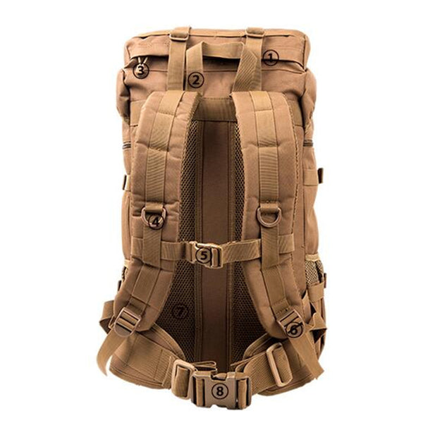 50L Heavy Duty Tactical Mountaineering Pack - Secure Wallet & Phone