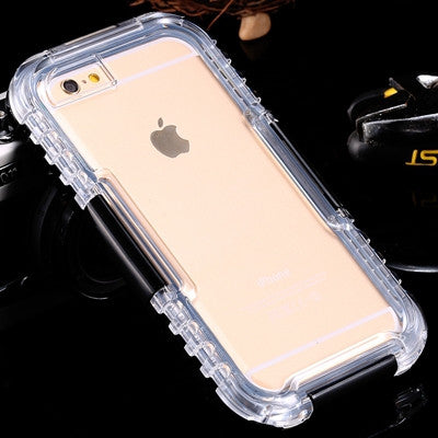 Waterproof Heavy Duty Hybrid Swimming Dive Case For Apple iPhone 6 6S Plus 5S SE Water/Dirt/Shock Proof - Secure Wallet & Phone
