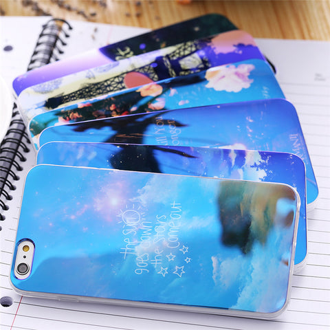 Ultra Thin Soft TPU Blue Ray Case For iPhone 6 6s 7 Plus iPhone 6 6s 5 5s - Secure Wallet & Phone