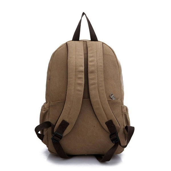 Canvas Mochila Backpack - Secure Wallet & Phone