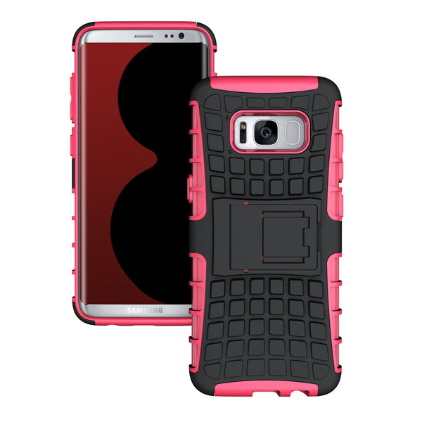 Armor Hybrid Shockproof Dual Layer Anti-Slip Hard PC + Silicone Rubber With Slim Fit Shell Cover Case For Samsung Galaxy S8 S8 Plus - Secure Wallet & Phone