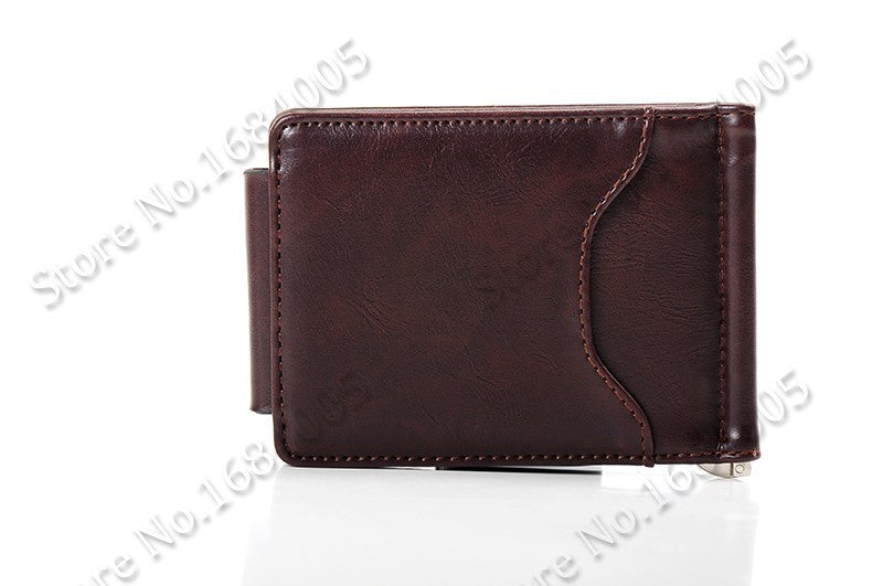 Men's Leather Clip like Wallet - Secure Wallet & Phone