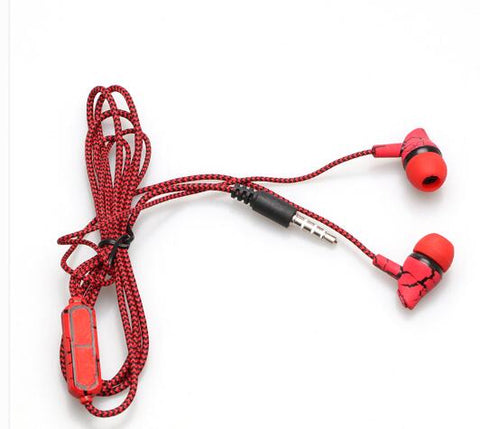 Braided Wired Headphones Super Bass 3.5mm Mic - Secure Wallet & Phone