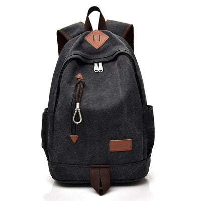 New Large Canvas Backpacks - Secure Wallet & Phone