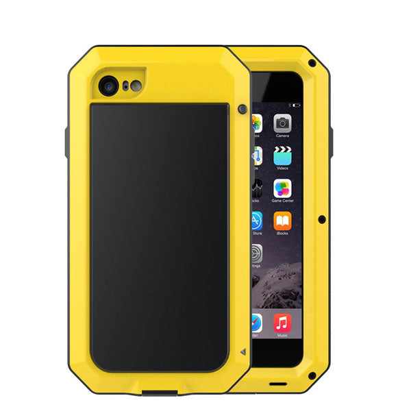 New Metal Shockproof iPhone Cases For iPhone X 5s SE 6 6s Plus 7 7s 8 8s - Secure Wallet & Phone
