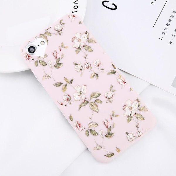 Beautiful Flower Phone Case For Apple iPhone 5 5s 6 6s 7 Plus 8 Plus - Secure Wallet & Phone