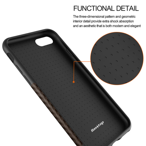 Thin Silicon Carbon Fiber Case Soft Back Cover For iPhone 8/8plus iPhone x - Secure Wallet & Phone