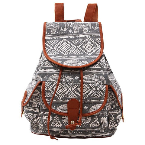 New Ladie's Stylish Canvas Backpacks 2018! - Secure Wallet & Phone