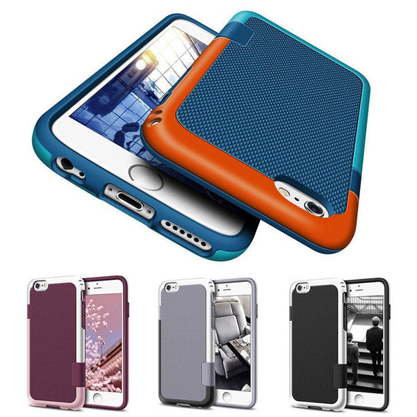 Shockproof Full Protective Armor Bumper Rubber Phone Case For iPhone 6s 6 Plus 7 7 Plus 8 8 Plus - Secure Wallet & Phone