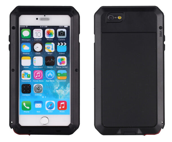 Metal Military Style Shockproof Dustproof Case for iPhone 5S 6 6s 7 7plus 8 8Plus - Secure Wallet & Phone
