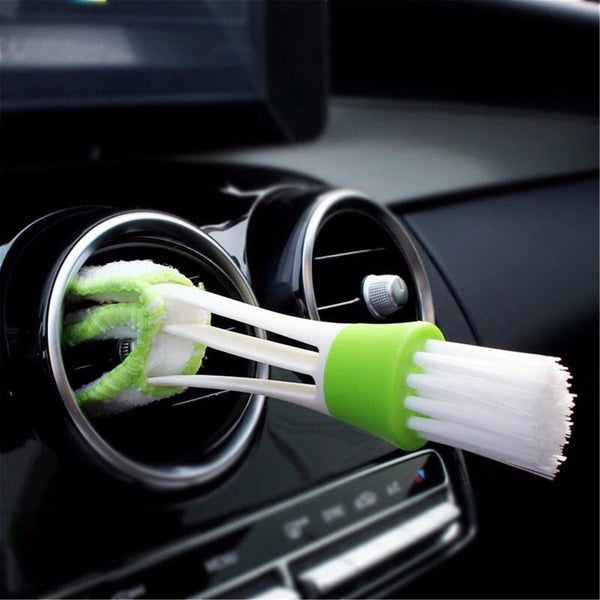 Auto Air Vent & Accessories Cleaning Brush - Secure Wallet & Phone