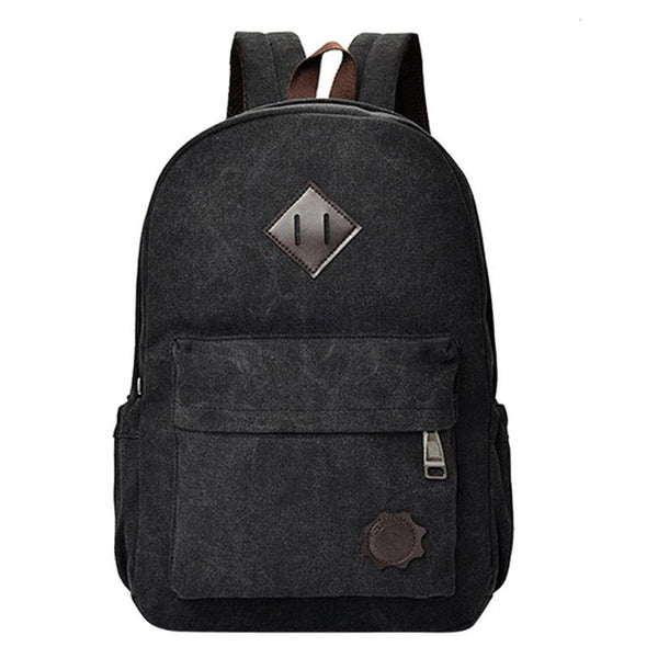 Vintage Soft Canvas Backpacks - Secure Wallet & Phone