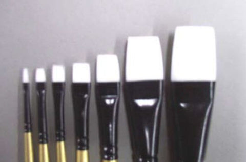 Brush Aqua Flat 1/4 - Fine Flat Paint Brush