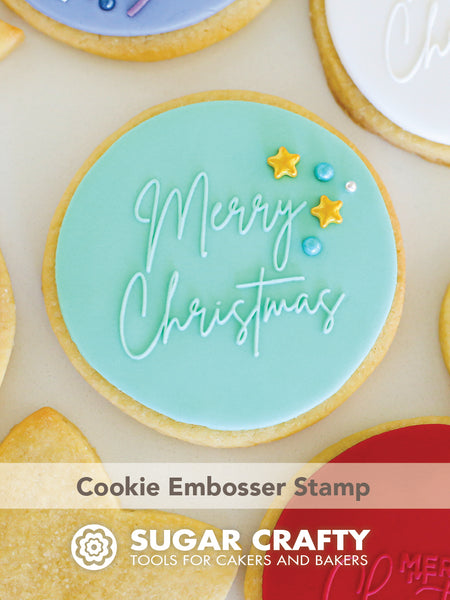 COOKIE EMBOSSER STAMP - MERRY CHRISTMAS 1