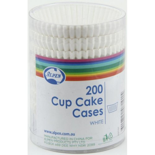 Cup Cake Cases White (38x21mm) P200 Baking cups