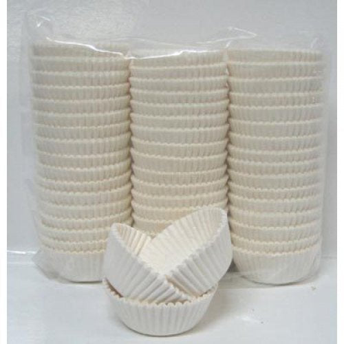 Cup Cake Cases White (38 x 21mm) P1000 Baking Cups