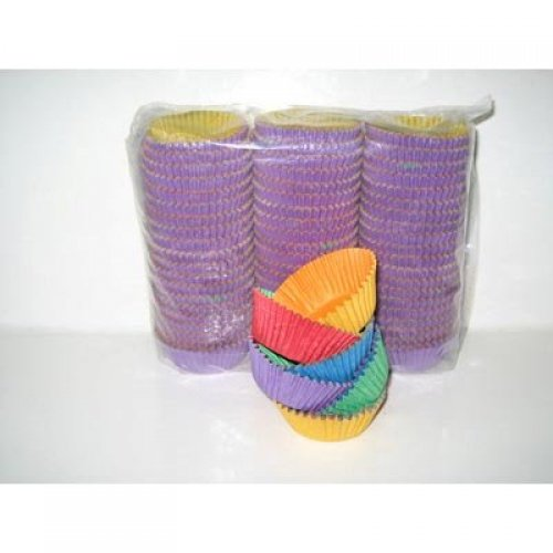 Cup Cake Cases Coloured (38 x 21mm) P1000