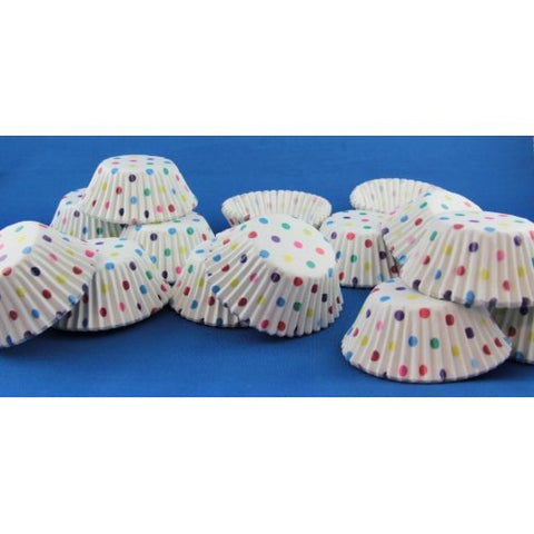 Cup Cake Cases Rainbow Polkadot (38 x 21mm) P500 Baking cups