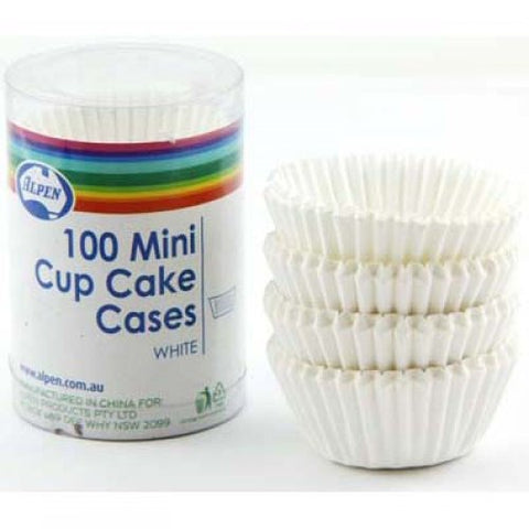 Mini Cup Cake Cases White (30x20mm) P100 Baking cups
