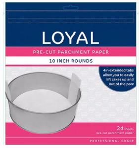 LOYAL PRE-CUT PAPER WITH TABS Round 250mm/10 inch