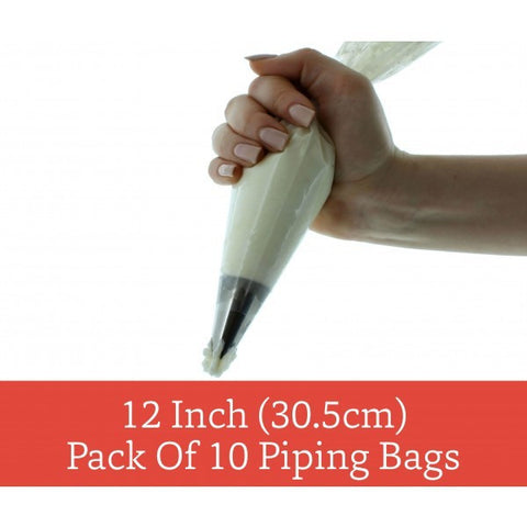 "Bake Group - 12"" DISPOSABLE PIPING BAGS - HANGSELL PACK OF 10"